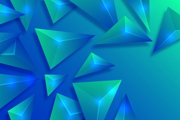 Fond coloré avec des triangles 3d