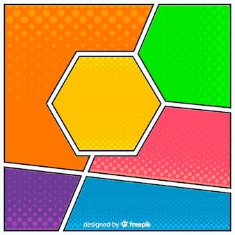 Fond comique de demi-teintes colorées