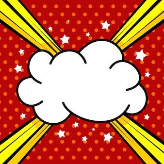 Fond comique de dessin animé avec illustration de nuage