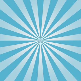 Fond comique. motif sunburst bleu. illustration vectorielle.