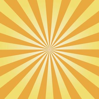 Fond comique. motif sunburst jaune. illustration vectorielle.