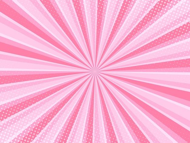 Fond comique rose avec effet de style pop art demi-teinte