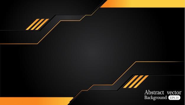 Fond de commerce abstrait orange jaune et noir