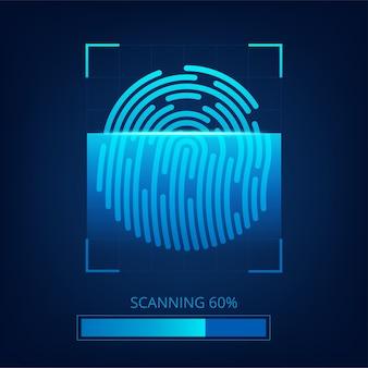 Fond de commerce abstrait technologie d'empreintes digitales