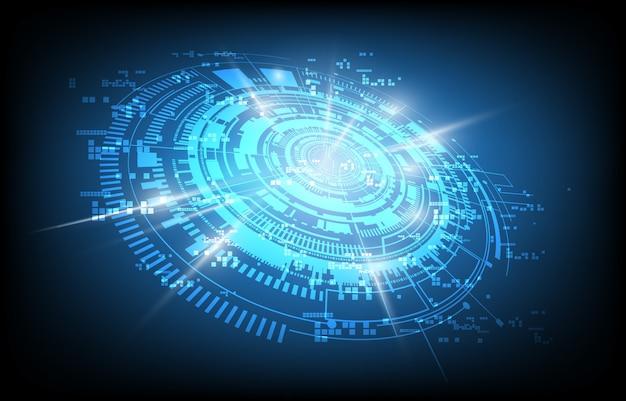 Fond de communication technologie abstraite