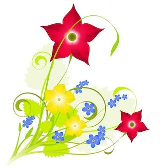 Fond de composition florale fraîche pour le printemps