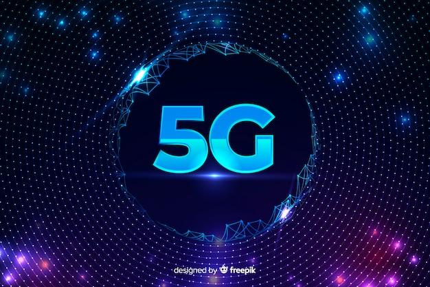 Fond de concept 5g avec réseau filaire