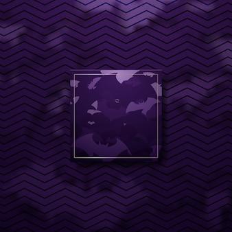 Fond de concept abstrait halloween luxe violet et or