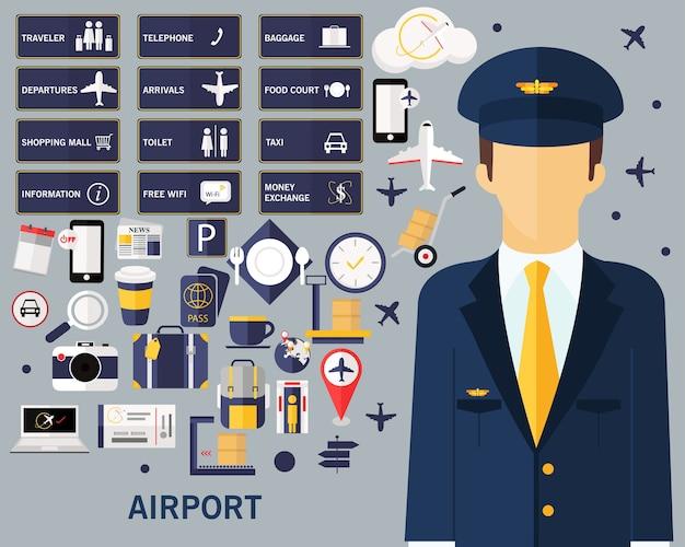Fond de concept aéroport