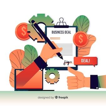 Fond de concept d'affaire commerciale