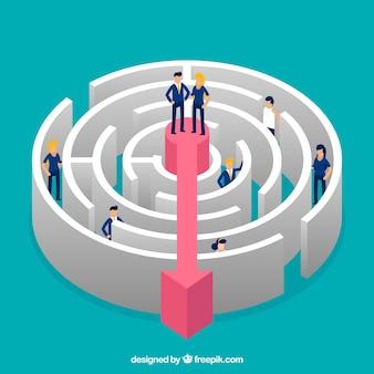 Fond de concept d'affaires labyrinthe