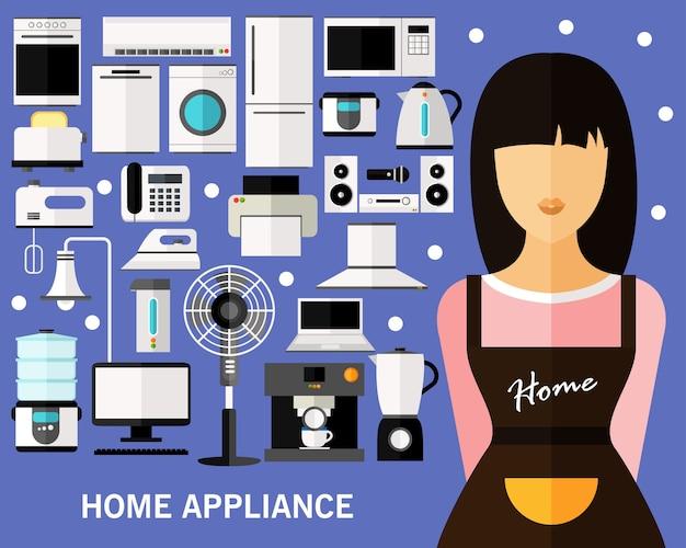 Fond de concept d'appareil ménager.