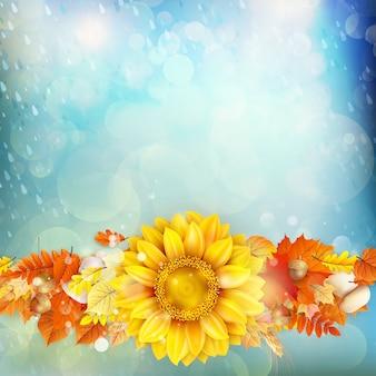 Fond de concept d'automne.