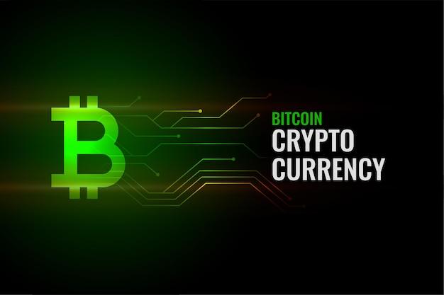 Fond de concept bitcoin avec lignes de circuit
