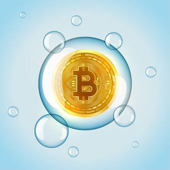 Fond de concept de bulle de marché bitcoin