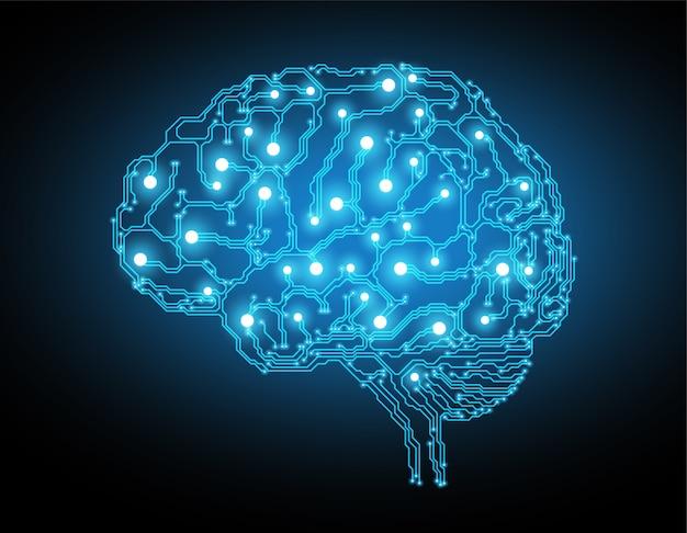 Fond de concept de cerveau créatif
