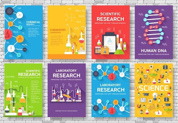 Fond de concept de chimie infographie
