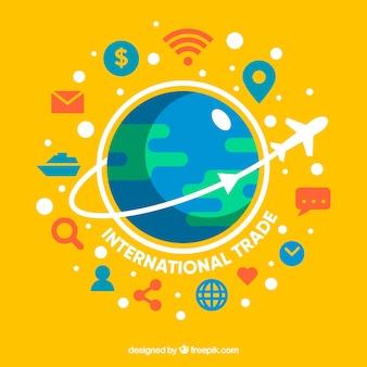 Fond de concept de commerce international