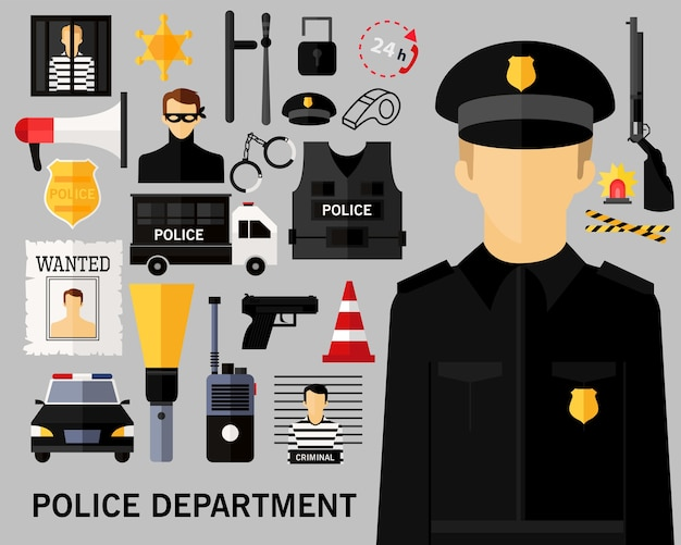 Fond de concept de département de police.
