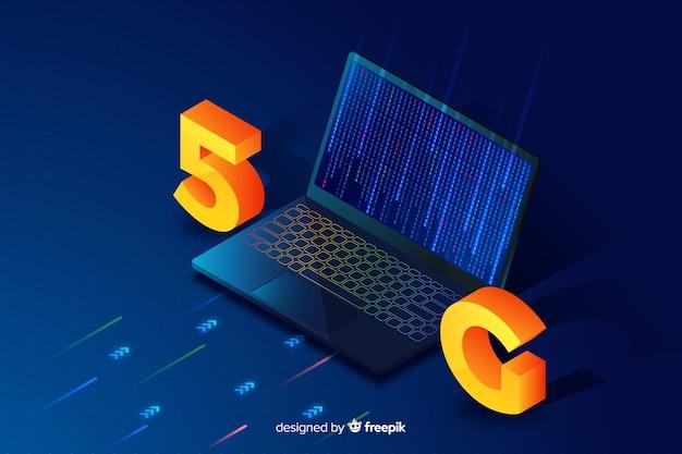 Fond avec concept design 5g