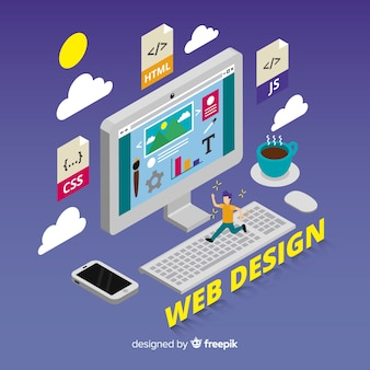 Fond de concept de design web