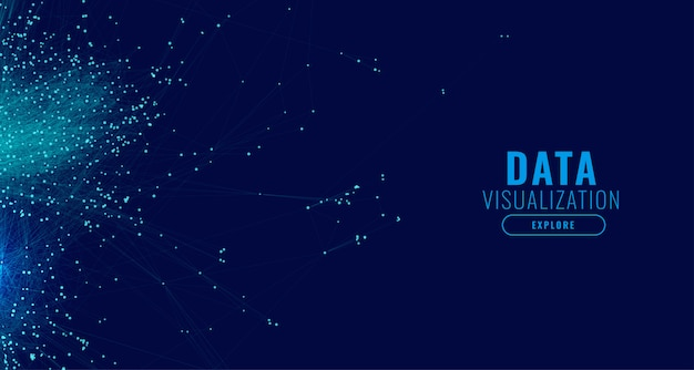 Fond de concept de diagramme de maille de visualisation de données volumineuses