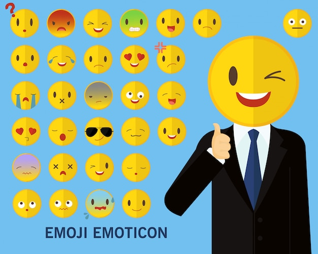 Fond de concept emoji émotion