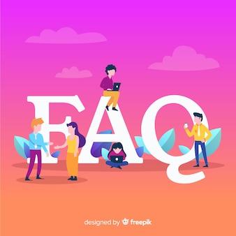 Fond de concept de faq
