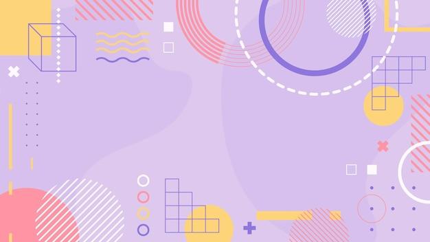 Fond de concept géométrique