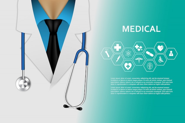 Fond de concept d'innovation médicale de soins de santé