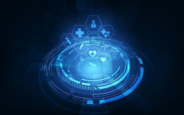 Fond de concept d'innovation de technologie médicale