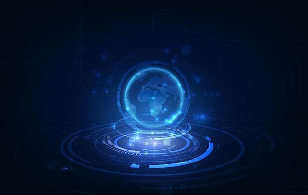 Fond de concept d'innovation technologique de connexion réseau mondial