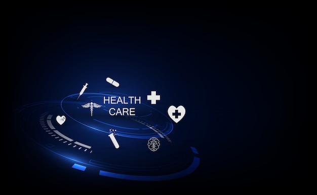 Fond de concept d'innovation technologique médicale