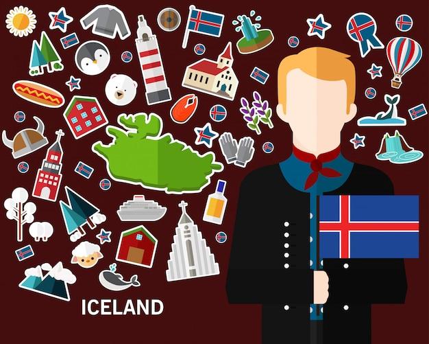 Fond de concept d'islande