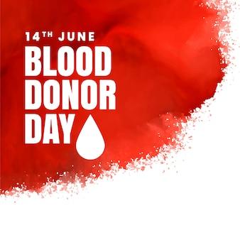 Fond de concept de jour de donneur rouge
