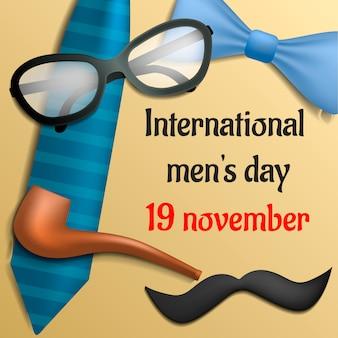 Fond de concept de journée internationale mens