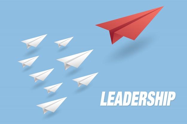 Fond de concept de leadership