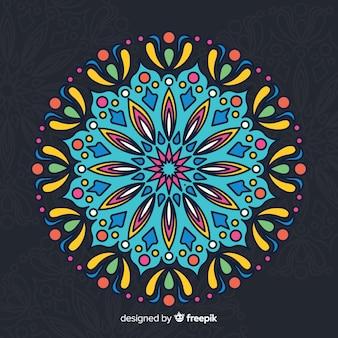 Fond de concept de mandala coloré