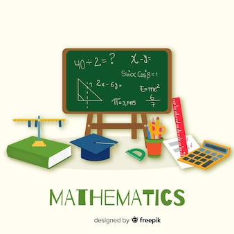 Fond de concept mathématique de dessin animé