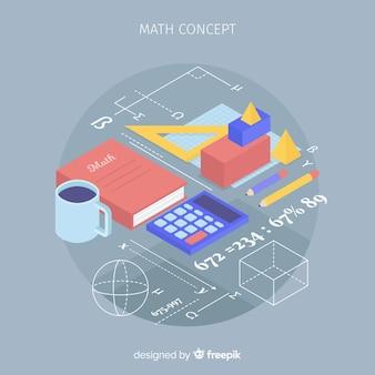 Fond de concept mathématique isométrique