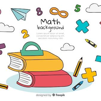 Fond de concept maths de dessin animé