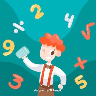 Fond de concept maths enfants dessin animé