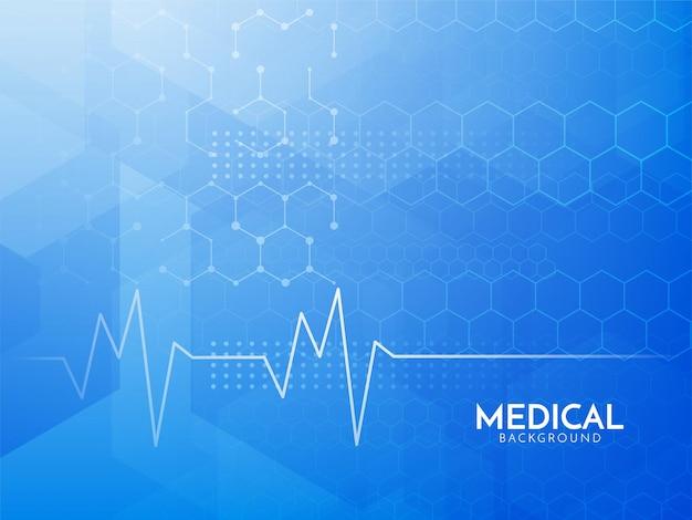 Fond de concept médical hexagonal bleu moderne