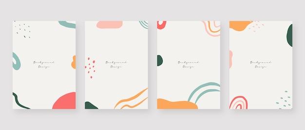Fond de concept minimal arrière-plans de memphis abstrait avec espace de copie pour le texte