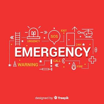 Fond de concept de mot d'urgence