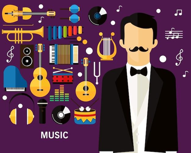 Fond de concept de musique.