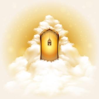 Fond de concept de portes au paradis