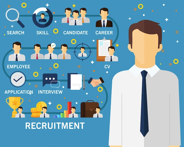 Fond de concept de recrutement