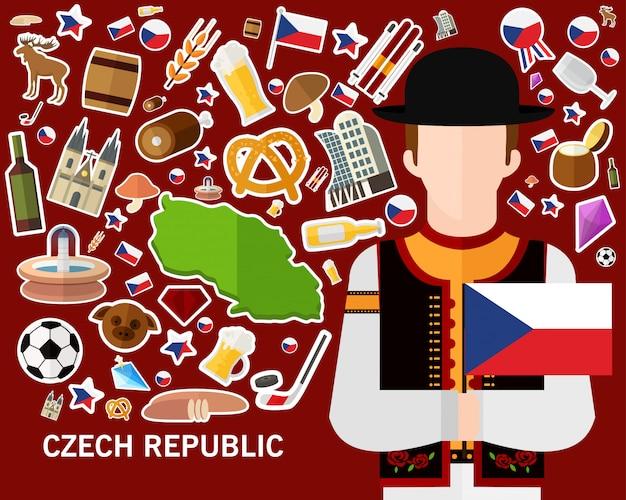 Fond de concept république tchèque