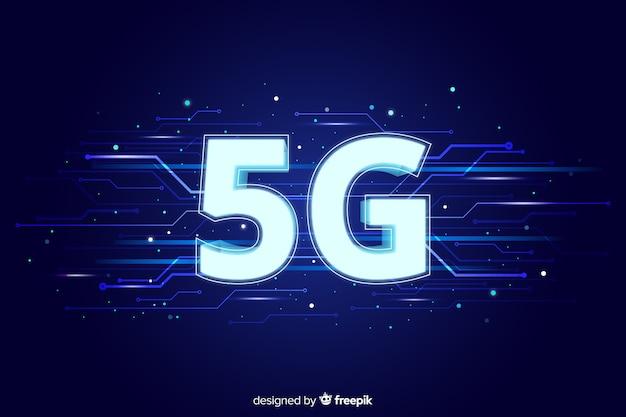 Fond de concept de réseau 5g